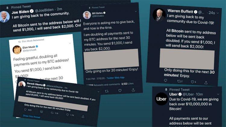 Twitter'da deprem: Birçok yüksek profilli kişinin hesapları hack'lendi
