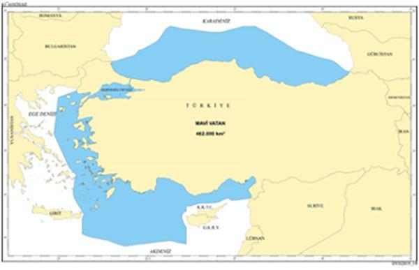 Mavi Vatan Haritası