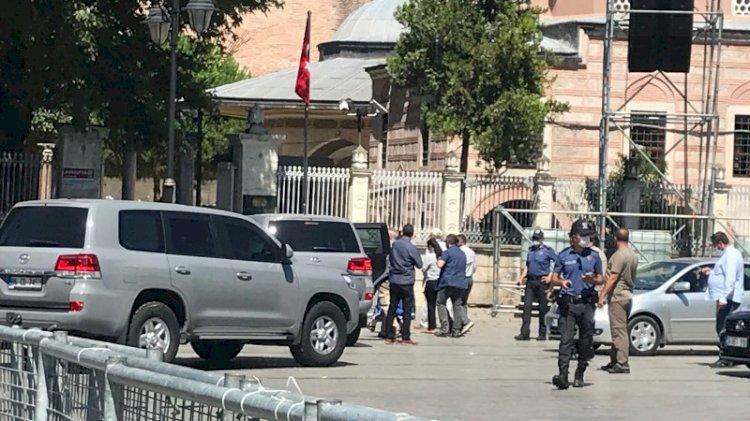 ABD Büyükelçisi Ayasofya'ya geldi