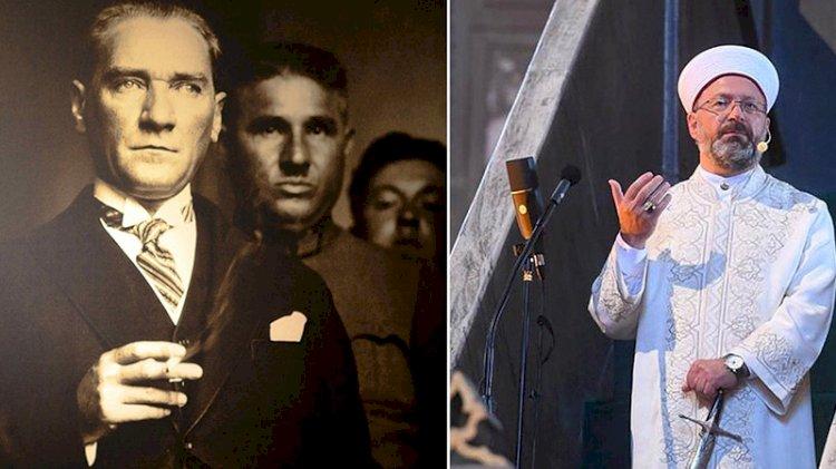 Ali Erbaş yalnız değildir! İşte Atatürk karşıtı bir parti