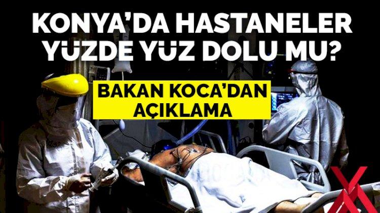 Bakan Koca'dan 'hastaneler yüzde yüz dolu' iddialarına yanıt