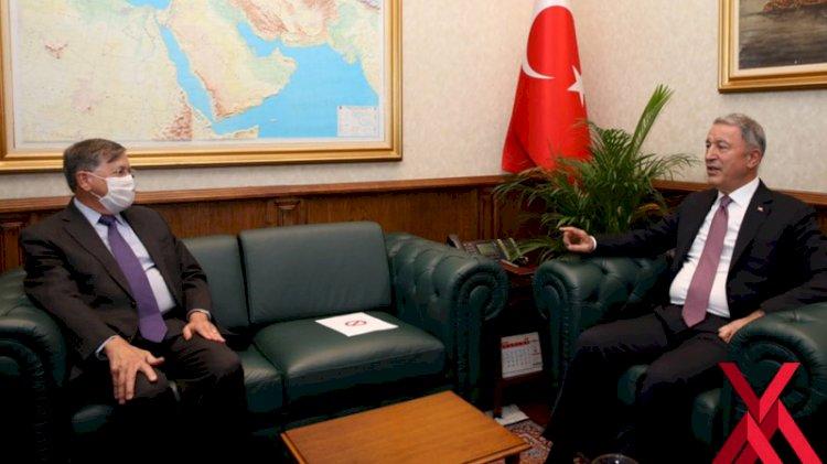 Hulusi Akar, ABD'nin Ankara Büyükelçisi Satterfield'i kabul etti