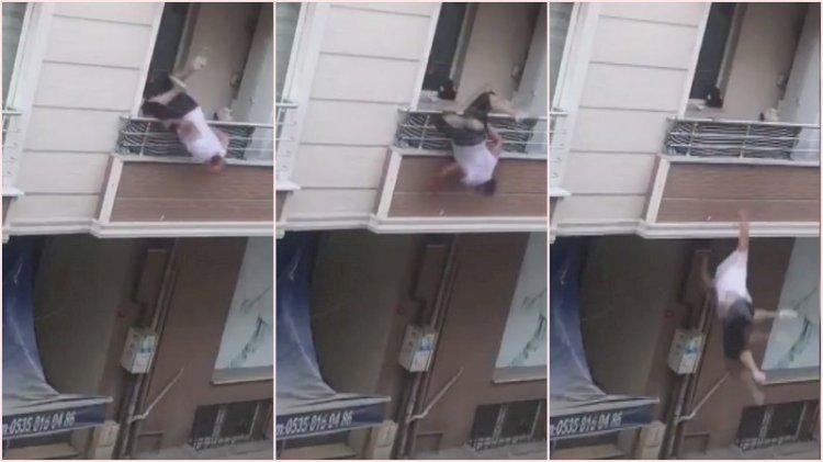 Akrabalarıyla tartışan kişi balkonundan böyle düştü