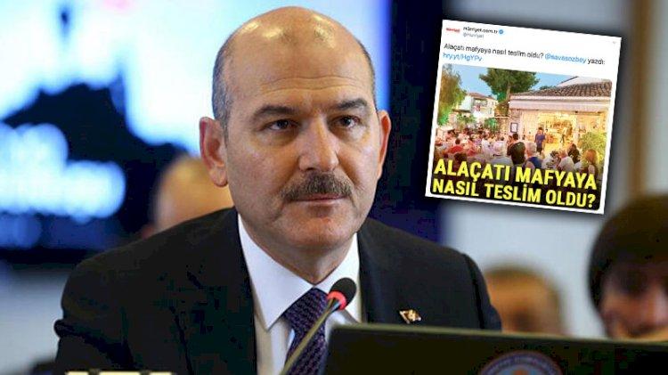 Soylu'dan Hürriyet'e 'mafya' tepkisi