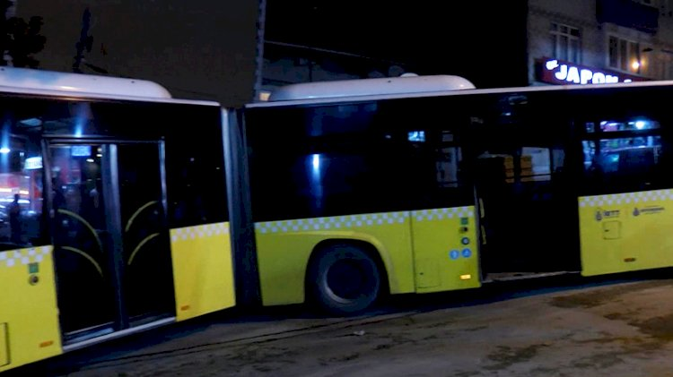 İETT otobüsü ortadan ayrıldı