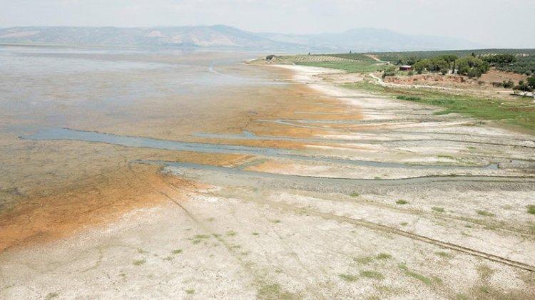 Marmara Gölü kurumak üzere