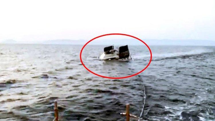 Yunan askerinin ateş açıp 3 kişinin yaralandığı olayda tekne böyle battı