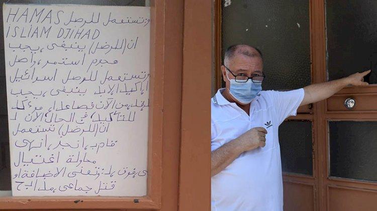 Apartmana yazılan 'Arapça' yazıya inceleme