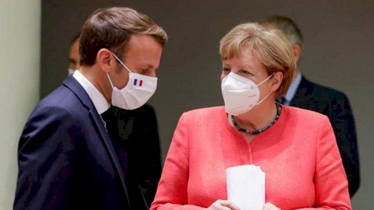 Macron ve Merkel'den 'Doğu Akdeniz' açıklaması