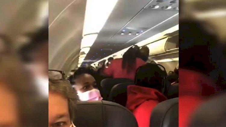 ABD'de yolcu uçağında maske tartışması yumruklu kavgaya dönüştü