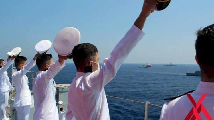 Deniz Harp Okulu öğrencilerine Doğu Akdeniz'de eğitim
