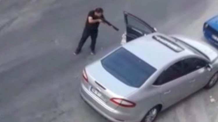 Yol ortasında pompalı saldırı