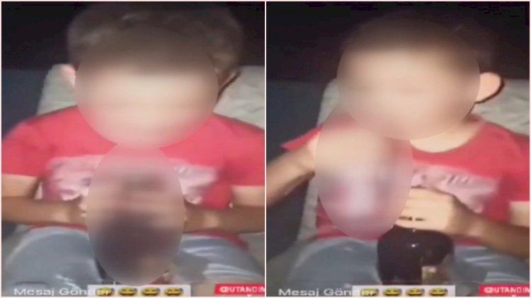 Sosyal medyada tepki çeken görüntü: Çocuğa alkol içirip paylaştı