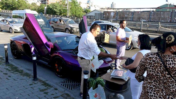 Milyonluk otomobilde 5 liraya karpuz sattı