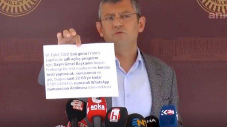 Özgür Özel, Kılıçdaroğlu'ndan kovid testi istenen Cumhurbaşkanlığı davetiyesini yırttı