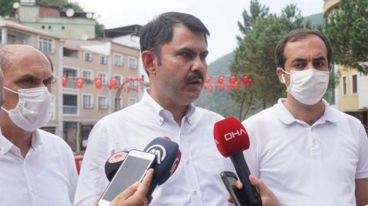 Bakan Murat Kurum: Depremle, selle, heyelanla yaşamayı öğrenmek zorundayız
