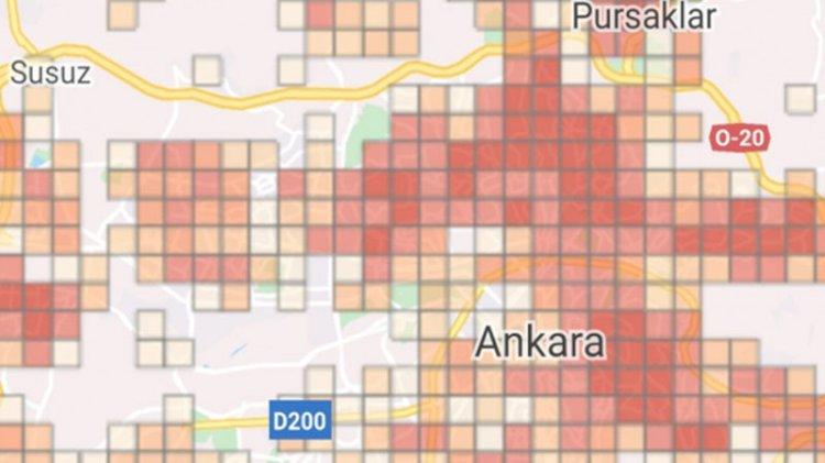 Ankara Türkiye'nin yeni Wuhan'ı: Tüm şehir kırmızıya büründü