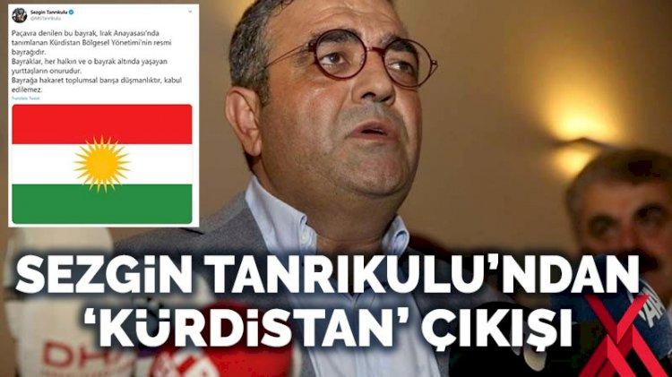 Sezgin Tanrıkulu'ndan 'Kürdistan bayrağı' çıkışı