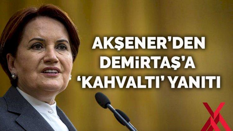 Meral Akşener'den Demirtaş'a 'kahvaltı' yanıtı