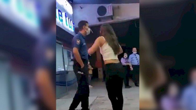 Polise bağıran kadın tepki çekti