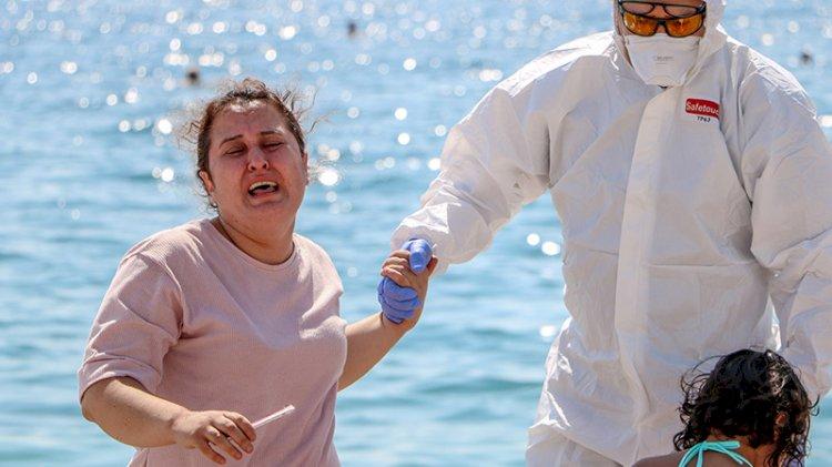 Antalya'da ilginç olay:  'Hastayım' diye bağırıp etrafa tükürdü