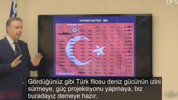 Türk donanmasını gösterip 'budalayız' dedi