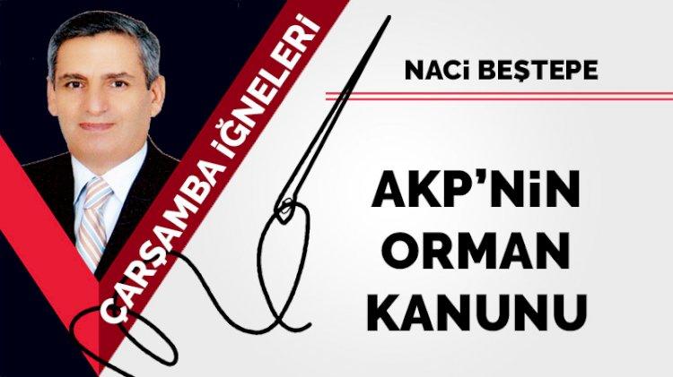 AKP'nin orman kanunu