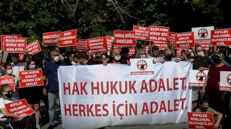 İBB'ye kira zammı protestosu
