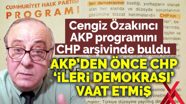 AKP'nin programındaki hangi maddeler CHP'den çalıntı çıktı