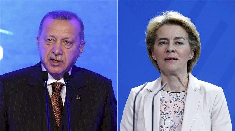 Masada istikşafi görüşmeler vardı…Erdoğan AB Başkanı Leyen ile görüştü