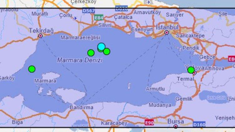 Marmara'da son 1 yılda gerçekleşen 4 üzeri depremler