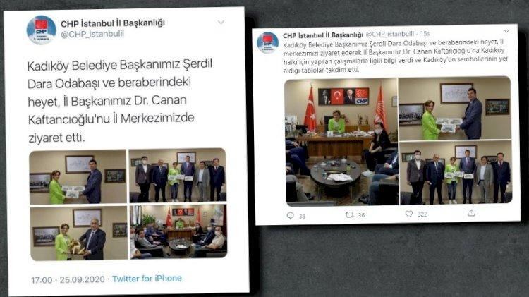 İki tweet arasındaki dikkat çeken fark... CHP İstanbul Atatürk tablosunu neden uçurdu?