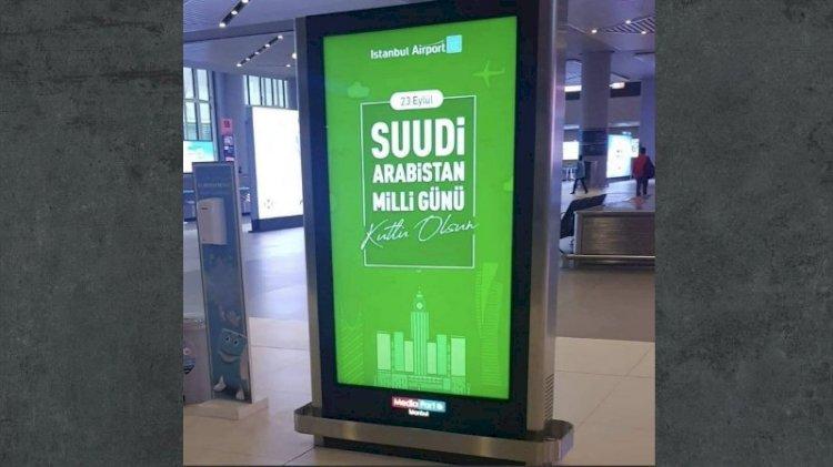 İstanbul Havalimanı'ndaki o pankartlar tepki çekti