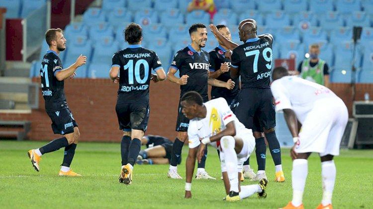 Trabzonspor'da ilk galibiyet sevinci