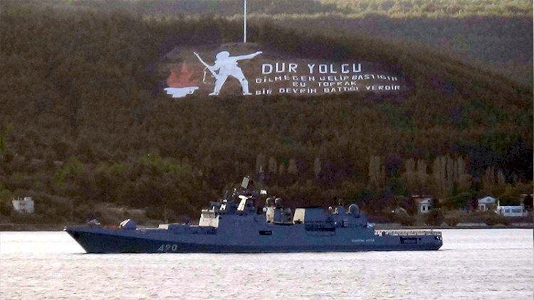 Rus savaş gemisi 'Admiral Essen' Akdeniz'e iniyor