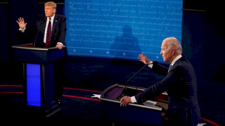 Canlı yayında kapıştılar... Trump-Biden tartışmasında sert sözler