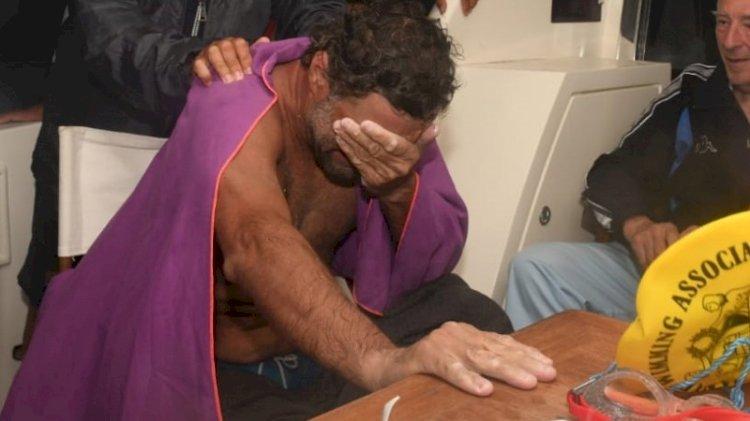 KKTC'ye kulaç atan milli yüzücü gözyaşlarıyla bıraktı