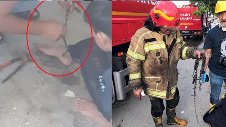 Yangında zincirlenmiş halde bulunan çocuk için ilginç savunma