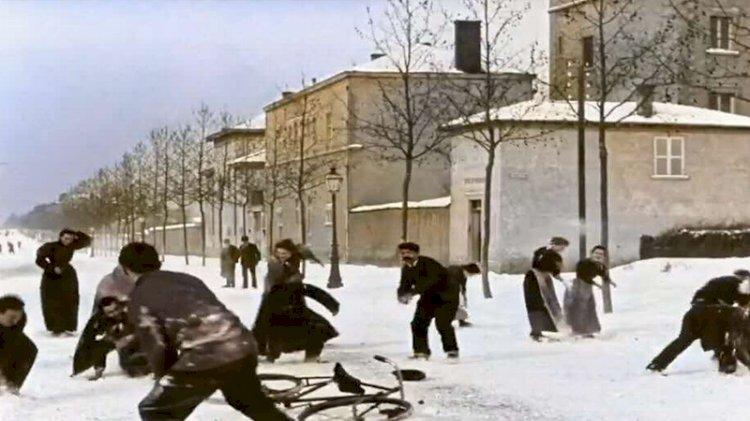 Lumiere'in kar topu savaşı yapay zekâyla renklendirildi