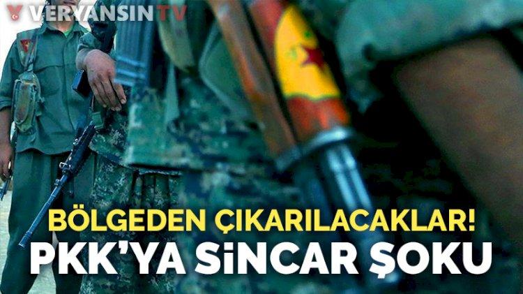 PKK'ya şok: Sincar'dan çıkarılacaklar