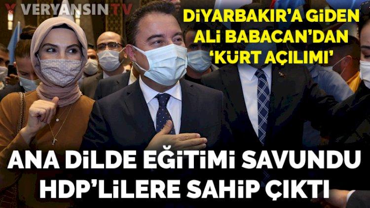 Ali Babacan'dan Diyarbakır'da 'Kürt açılımı' sözü