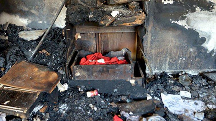 Hatay'da yanan evde duygulandıran detay