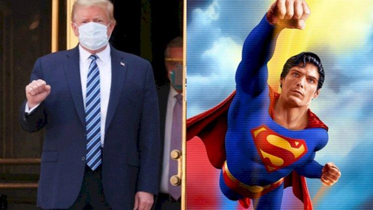 Trump taburcu edilirken Superman kostümü giymek istemiş