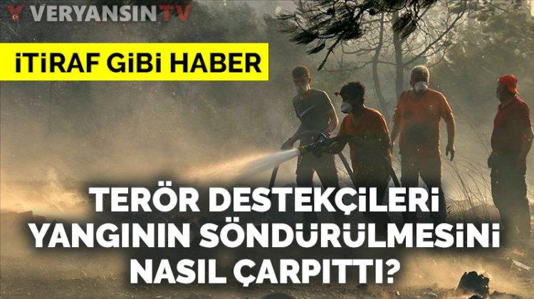 Yangının söndürülmesi PKK'nın yayın organını üzdü