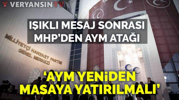 MHP'den AYM'ye tepki: Yeniden ele alınmalı