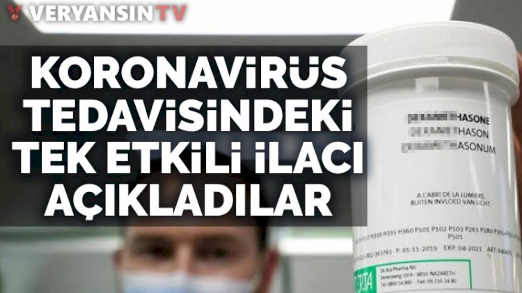 DSÖ: Koronavirüs tedavisinde tek etkili ilacı açıkladı