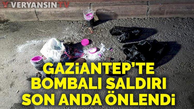 Gaziantep'te bombalı saldırı alarmı! Son anda önlendi