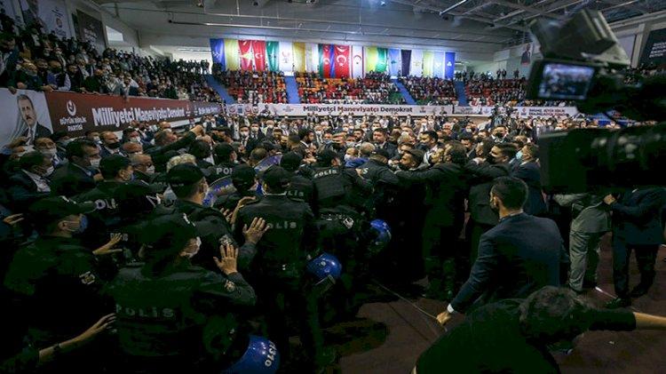 Büyük Birlik Partisi kongresinde arbede çıktı