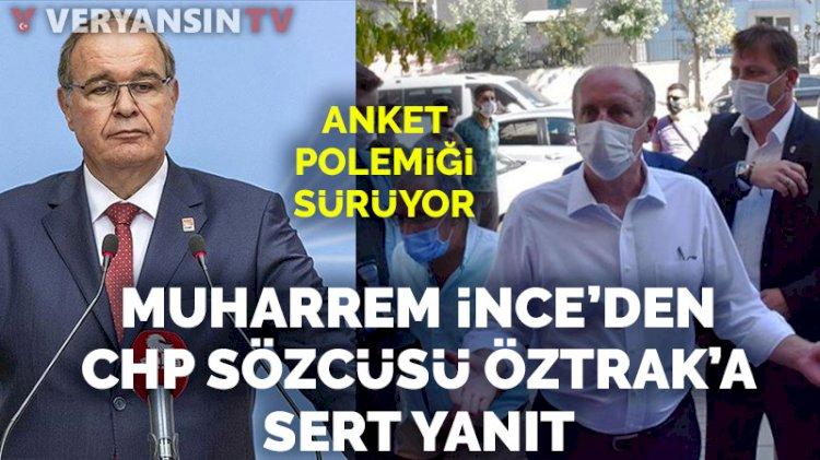 Muharrem İnce'den CHP sözcüsüne sert tepki