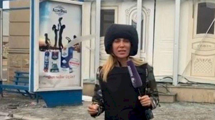 Doğuş'un gazeteci olan Azerbaycanlı eşi cepheye gitti